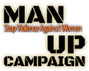 Man Up Campaign Logo Bling