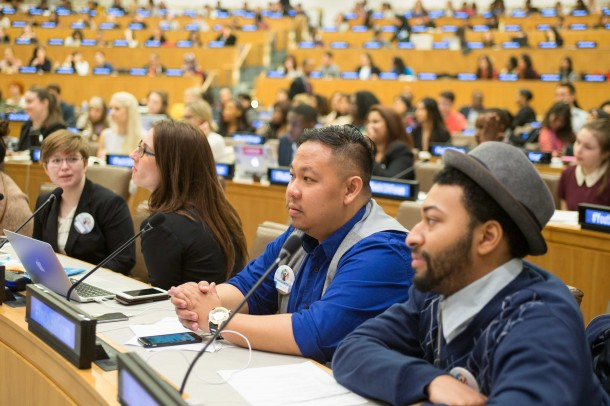 Man Up Campaign Youth Lead in 1st Youth CSW Forum